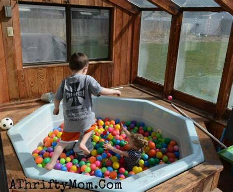 turn your bathtub into a jacuzzi turn an old hot tub into a ball pit for your kids