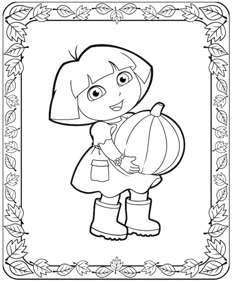dora thanksgiving coloring page dora coloring page pilgrim coloring pages