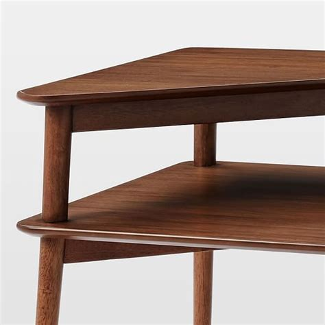 mid century stepped side table west elm