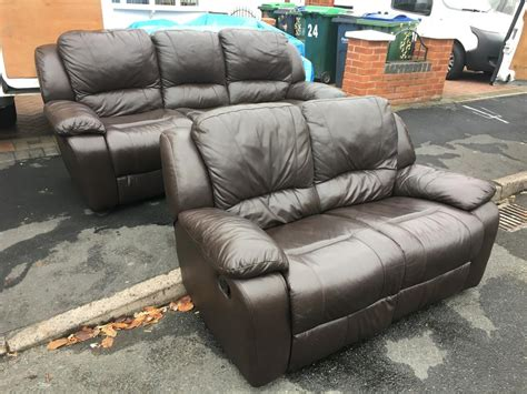 used leather recliner 3 2 used leather recliner set in good condition free