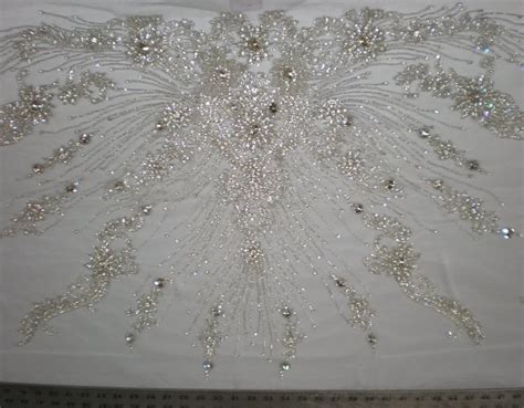 white beaded lace white bridal beaded lace one by fabric universe