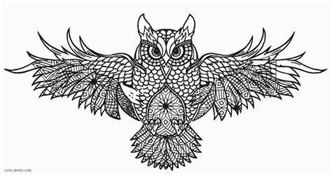 intricate owl coloring pages free printable owl coloring pages for kids cool2bkids