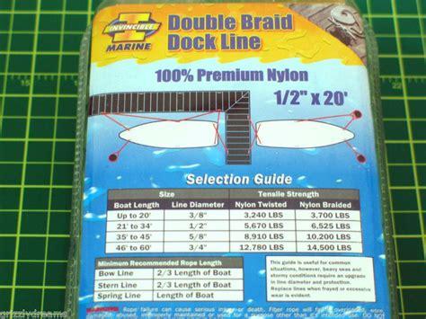 invincible boat parts sell invincible marine 20 foot double braid nylon dock