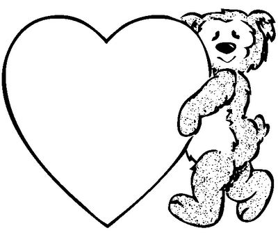 valentines day coloring pages valentine teddy coloring