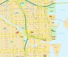 Map Of Miami Fl by Map Miami Fl Downtown Florida Usa City Center