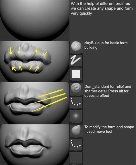 zbrush mouth tutorial 6133 best my drawing stuff images on pinterest drawing