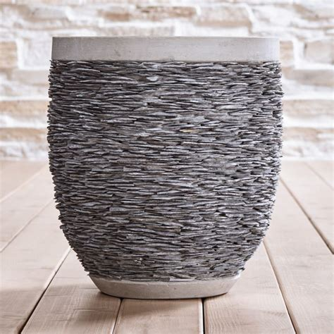 stacked large rock planter reviews crate  barrel