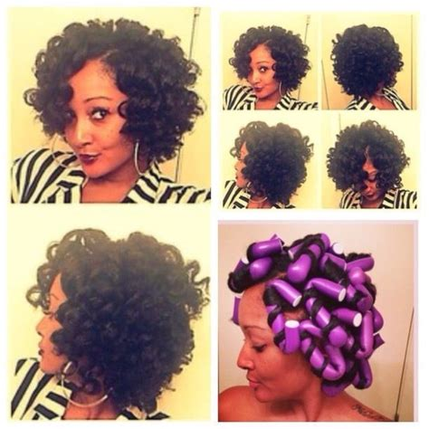 rodded bob hairstyles 166 best flexi rods on natural hair images on pinterest