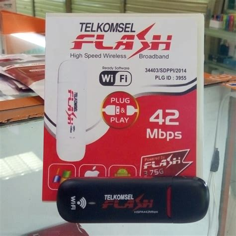 Modem Flash 42mbps modem telkomsel flash 42mbps unlock all gsm support soft wifi bisa jadi hotspot elevenia