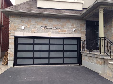 Modern Glass Garage Doors by Modern Aluminum Glass Garage Door With Frosted Door Lites