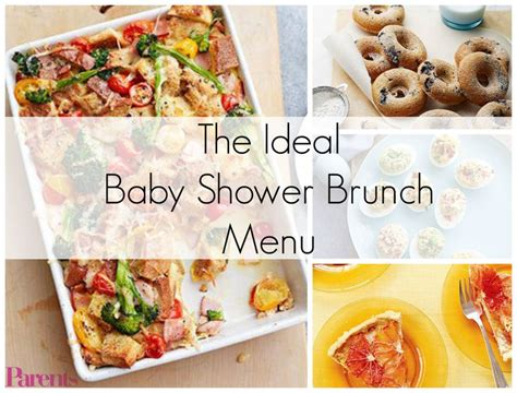 Ideal For Baby Shower by The Ideal Baby Shower Brunch Menu Best Baby Shower Ideas