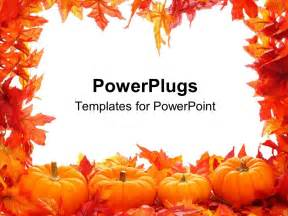 Fall Powerpoint Template by Powerpoint Template Fall Autumn Leaf Border With White