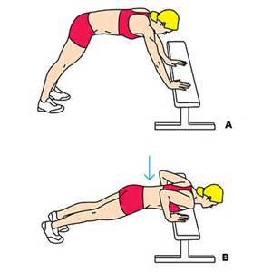 bench press ups bench plyo push up olympic swimmer dana torres ab