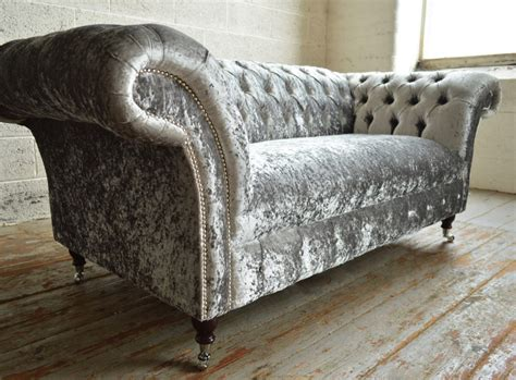 Velvet Chesterfield Sofa by Westbury Velvet Chesterfield Sofa Abode Sofas