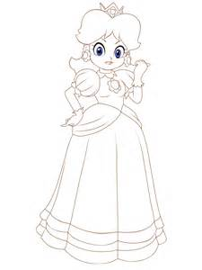 princess daisy coloring pages viewing gallery