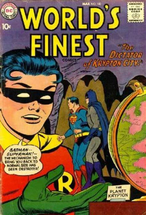 Miniature Superman Blue 041a Superman And Dc Comics world s finest covers 100 149