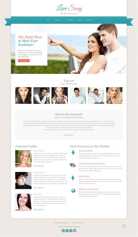 dating site templates dating responsive website template 53650