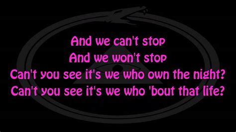 miley cyrus we cant stop lyrics miley cyrus we can t stop lyrics hd youtube