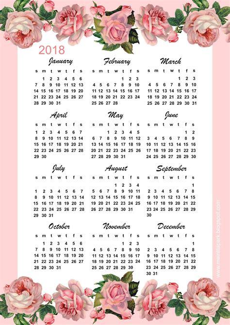 printable calendar vintage roses free printable 2018 calendar pink vintage rose calendar
