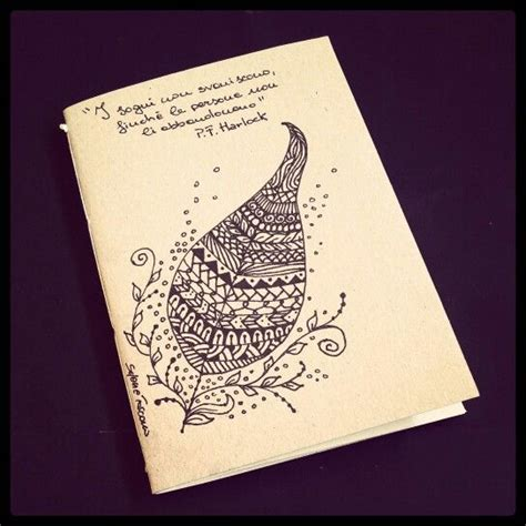 design notebook cover illustrated notebook cover zentangle design diy notebook