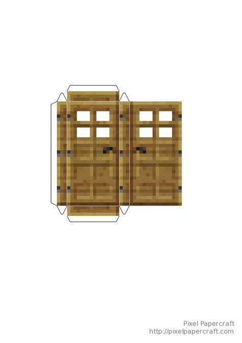Minecraft Papercraft Door - papercraft doors minecraft 1 8