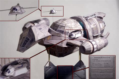 Firefly Papercraft - serenity paper model by two