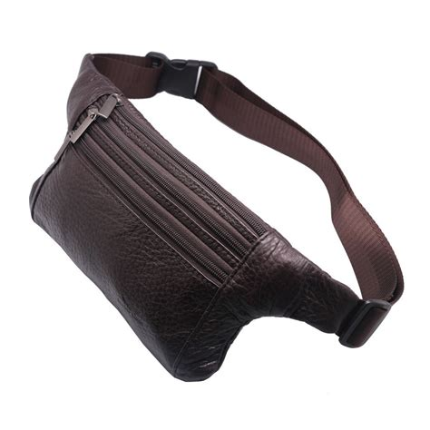 Waistbag Brown 1 slim genuine leather pack waist compact travel bag brown ne3 ebay