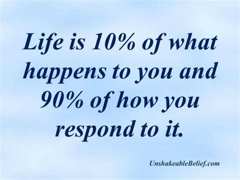 quote about life quotes about life respond unshakeable belief
