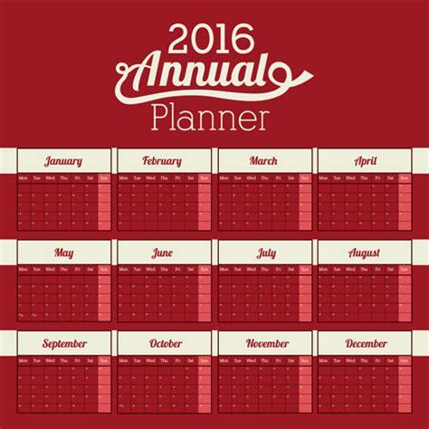 design wall calendar 2016 simple wall calendar 2016 design vectors set 03 free download