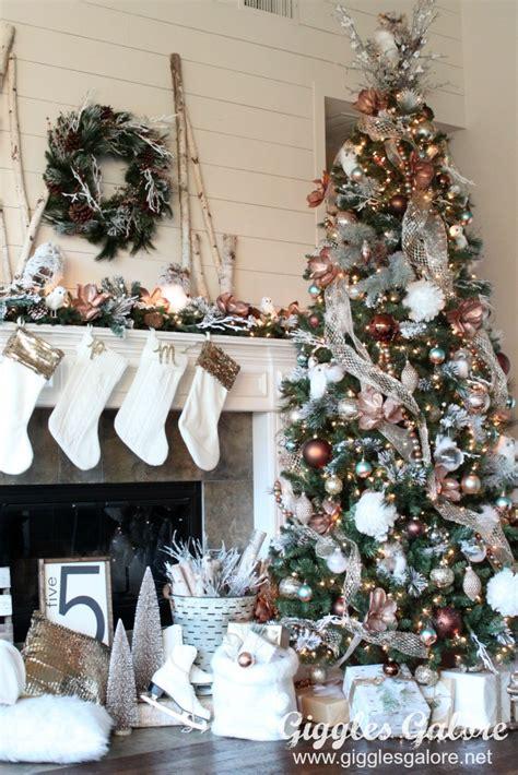 time tree decorations glam metallic farmhouse tree
