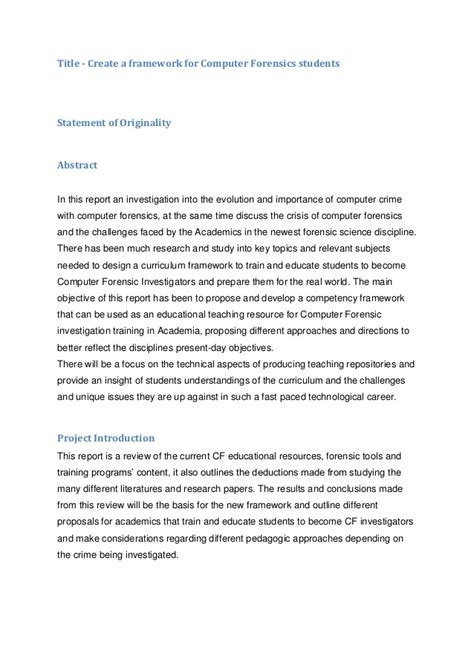 digital forensics report template computer forensics