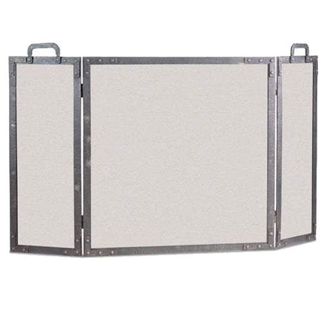 wrought iron 3 panel world folding fireplace screen by