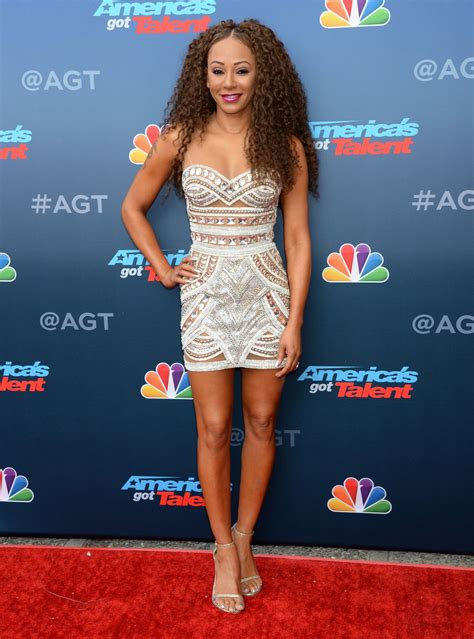Catwalk To Carpet Melanie Brown In Rm By Roland Mouret by Melanie Brown At America S Got Talent Carpet Kickoff