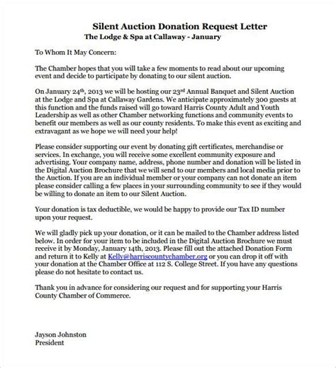 homeless charity letter image result for sle donation request letter for silent