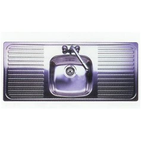 Drainer Sink by Leisure Sink Linear Single Bowl Double Drainer Sink