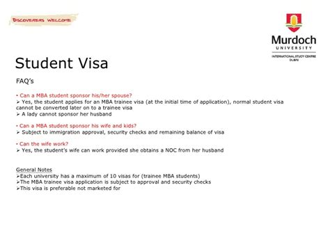 Sponsorship Letter For Us Visa To Student Murdoch International Study Centre Dubai