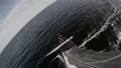 catamaran storm video escaping a storm with an a class catamaran hd gopro hero