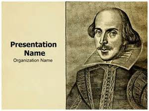 Shakespeare Powerpoint Template by Portrait William Shakespeare Powerpoint Template
