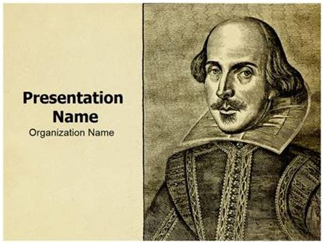 shakespeare powerpoint template portrait william shakespeare powerpoint template