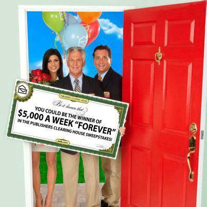 Publishers Clearing House Announcement On Nbc - publishers clearing house 5 000 a week forever prize sweepstakes sponsored