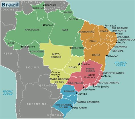 map of brasil maps of brazil map library maps of the world