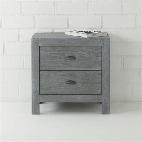 montauk two drawer nightstand montauk gray 2 drawer wood nightstand