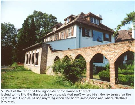 Martha Moxley House by Part Of The Rear Of The Moxley Residence Showing The