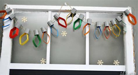 paper christmas lights garland  days  homemade