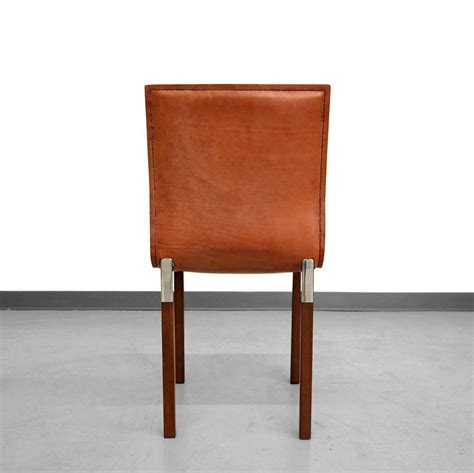 Industrial Leather Dining Chair Set Of Four Leather Emile Industrial Modern Dining Chairs By Zele Company At 1stdibs