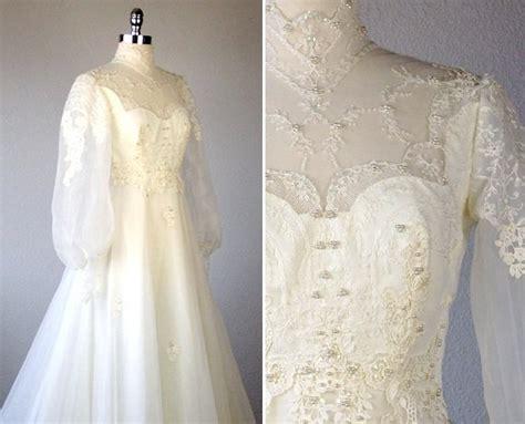 Vintage 70s Wedding Dresses by Vintage Wedding Dress Wedding Dress 1970s Wedding