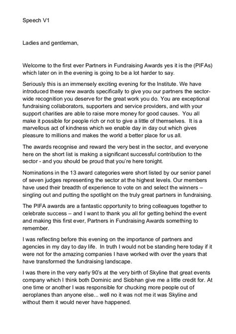 My Welcome Speech For Iof Pifa Awards V2 Speech For Employee Recognition