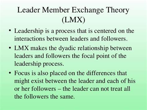 lmx  transformational theories