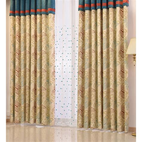 sun blocking drapes beige tall butterfly embroidered sun blocking curtains