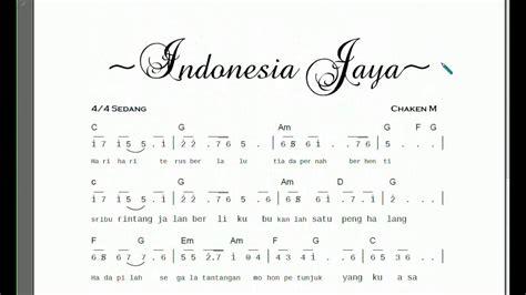 download lagu indonesia raya download notasi lyric lagu indonesia jaya partitur not